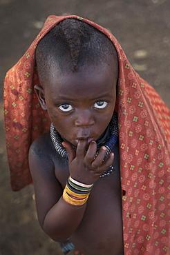 Himba child, Kaokoland, Namibia, Africa