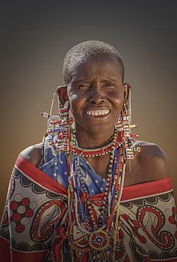 Masai woman in Amboseli National Park, Kenya, East Africa, Africa