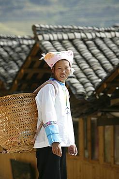 Woman of Yao minority, Longsheng terraced ricefields, Guilin, Guangxi Province, China, Asia