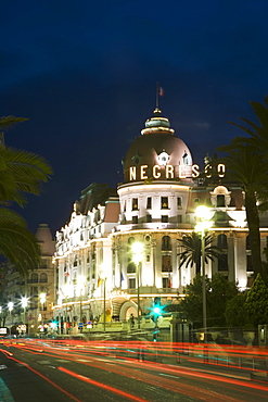 Hotel Negresco, Promenade des Anglais, Nice, Alpes Maritimes, Provence, Cote d'Azur, French Riviera, France, Europe