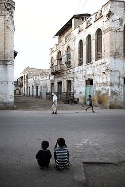 Daily life in the coastal town of Massawa, Eritrea, Africa