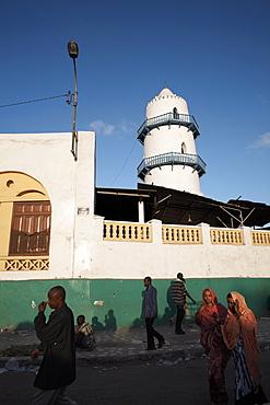 The Hamoudi Mosque in the European Quarter of Djibouti City, Djibouti, Africa