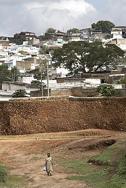 The outer wall of the ancient city of Harar, Ethiopia, Africa