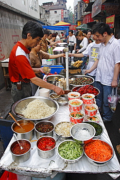 Food market in Wuhan, Hubei province, China, Asia