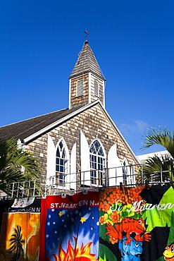 Methodist church, Philipsburg, St. Maarten, Netherlands Antilles, West Indies, Caribbean, Central America