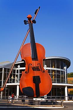 The Big Ceilidh Fiddle by Cyril Hearn, Sydney Pavilion, Port of Sydney, Cape Breton Island, Nova Scotia, Canada, North America