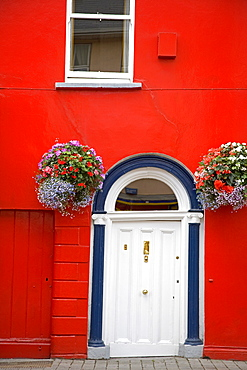 Red house in Fermoy Town, County Cork, Munster, Republic of Ireland, Europe