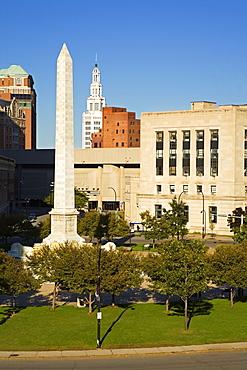 McKinley Monument in Niagara Square, Buffalo City, New York State, United States of America, North America