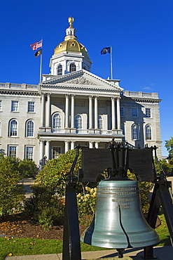 Liberty Bell at the State Capitol, Concord, New Hampshire, New England, United States of America, North America