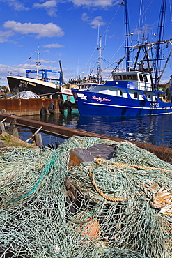 Fishing boats in Rocky Neck, Gloucester, Cape Ann, Greater Boston Area, Massachusetts, New England, United States of America, North America