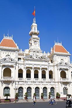 HCMC's People's Committee Building, (Hotel de Ville), Hoh Chi Minh City (Saigon), Vietnam, Indochina, Southeast Asia, Asia