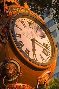 Sylvan Brothers clock on Main Street, Columbia, South Carolina, United States of America, North America
