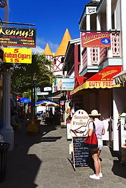 Old Street, Philipsburg, St. Maarten, Netherlands Antilles, Leeward Islands, West Indies, Caribbean, Central America