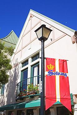 Danish flag, Solvang, Santa Barbara County, Central California, United States of America, North America