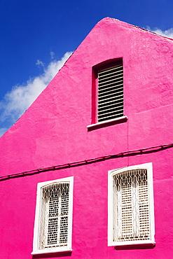 Pink building on Republique Street, Fort-de-France, Martinique, French Antilles, West Indies, Caribbean, Central America
