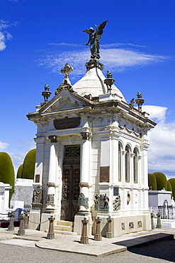 Historic Cemetery in Punta Arenas City, Magallanes Province, Patagonia, Chile, South America