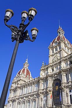 Palacio Municipal (Town Hall) on Plaza de Maria Pita, La Coruna City, Galicia, Spain, Europe
