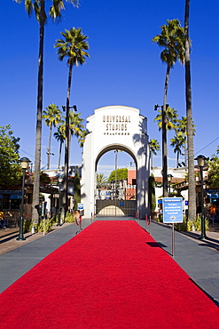 Entrance to Universal Studios, Hollywood in Los Angeles, California, United States of America, North America