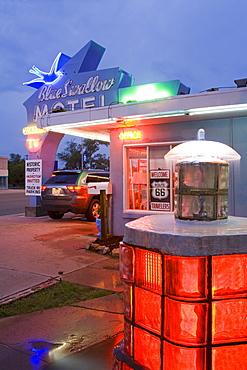 Blue Swallow Motel in Tucumcari, New Mexico, United States of America, North America