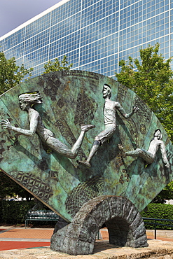Tribute sculpture by P. Greer, Centennial Olympic Park, Atlanta, Georgia, United States of America, North America