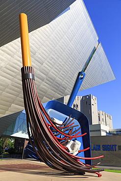 Big Sweep sculpture by Claes Oldenburg, Denver Art Museum, Denver, Colorado, United States of America, North America