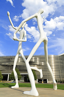 Dancers by Jonathan Borofsky, Sculpture Park, Performing Arts Complex, Denver, Colorado, United States of America, North America