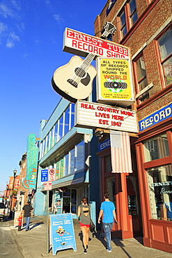 Music store on Broadway Street, Nashville, Tennessee, United States of America, North America