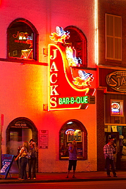 Neon sign on Broadway Street, Nashville, Tennessee, United States of America, North America