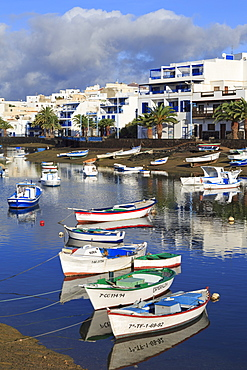 Fishing boats in Charco de San Gines, Arrecife, Lanzarote Island, Canary Islands, Spain, Atlantic, Europe