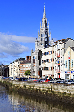 Trinity Church and River Lee, Cork City, County Cork, Munster, Republic of Ireland, Europe