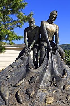 Fishermen's Monument, Old Town, Marmaris, Anatolia, Turkey, Asia Minor, Eurasia