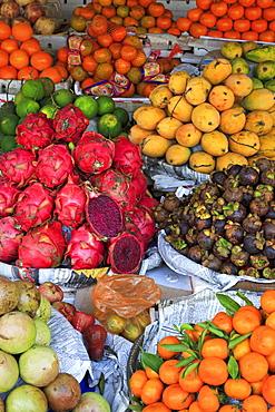 Fruit in Sihanoukville Market, Sihanouk Province, Cambodia, Indochina, Southeast Asia, Asia