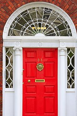 Georgian Door, Merrion Street Upper, Dublin City, County Dublin, Republic of Ireland, Europe