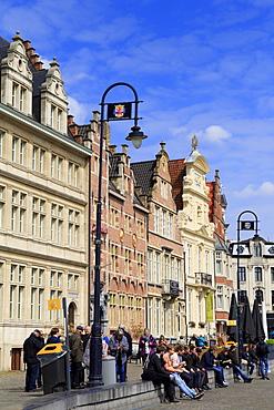 Korenlei Waterfront, Ghent, East Flanders, Belgium, Europe