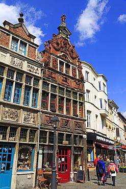 Stores on Kraanlei Street, Ghent, East Flanders, Belgium, Europe