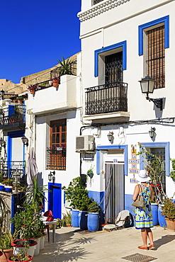 Historic Barrio Santa Cruz District, Alicante City, Spain, Europe
