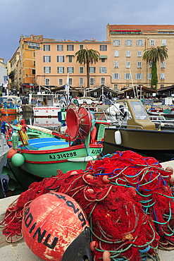 Fishing boats, Ajaccio City, Corsica Island, France, Mediterranean, Europe