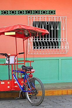 Pedicab, Corinto City, Chinandega Province, Nicaragua, Central America