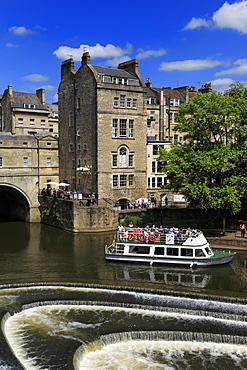 Pulteney Bridge, River Avon, Bath, UNESCO World Heritage Site, Somerset, England, United Kingdom, Europe