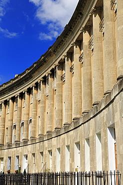 Royal Crescent, City of Bath, UNESCO World Heritage Site, Somerset, England, United Kingdom, Europe
