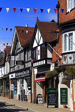 High Street, Lyndhurst Town, New Forest, Hampshire, England, United Kingdom, Europe
