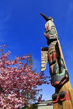 Chief Keyan Totem Pole, Ketchikan, Alaska, United States of America, North America