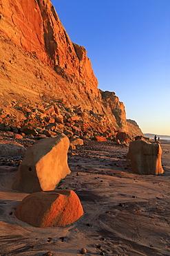 Landslide, Torrey Pines State Beach, Del Mar, San Diego County, California, United States of America, North America