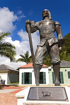Pieter Stuyvesant statue, Whathey Pier, Philipsburg, St. Maarten, Netherlands Antilles, West Indies, Caribbean, Central America