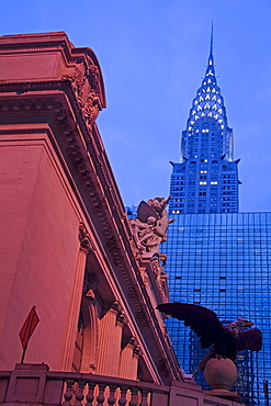 Grand Central Station and the Empire State Building, Midtown Manhattan, New York City, New York, United States of America, North America