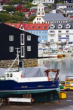 Dry dock, Port of Torshavn, Faroe Islands (Faeroes), Kingdom of Denmark, Europe