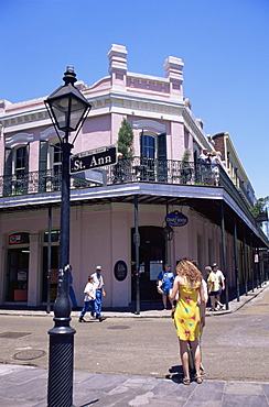 Corner of St. Ann and Chartres Streets, French Quarter, New Orleans, Louisiana, United States of America, North America