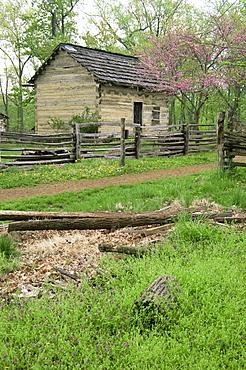 Cabin, Lincoln Boyhood National Memorial, Indiana, United States of America, North America