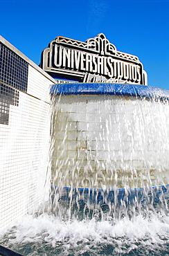 Universal Studios fountain, Hollywood, Los Angeles, California, United States of America, North America