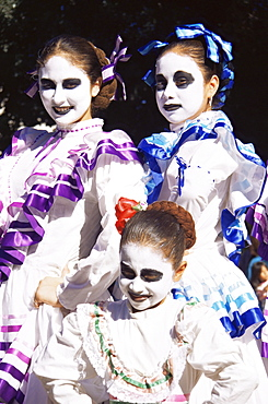 Dia de los Muertos (Day of the Dead) festival, Olvera Street, Los Angeles, California, United States of America, North America